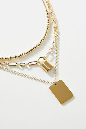Anthropologie ネックレス・ペンダント 関税込み☆Lock Layered Necklace(3)