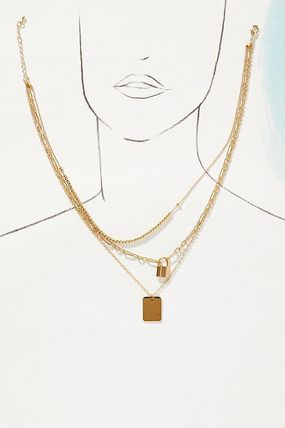 Anthropologie ネックレス・ペンダント 関税込み☆Lock Layered Necklace(4)