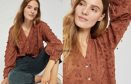 Anthropologie トップスその他 関税込み☆Seen Worn Kept Kathryn Textured Blouse