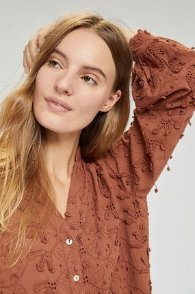 Anthropologie トップスその他 関税込み☆Seen Worn Kept Kathryn Textured Blouse(4)