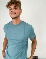 ASOS DESIGN co-ord t-shirt with pin tucks in grey