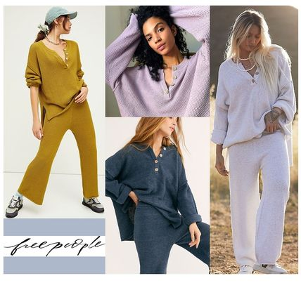 Free People セットアップ FreePeople(フリーピープル)  ハイリーセーターセット