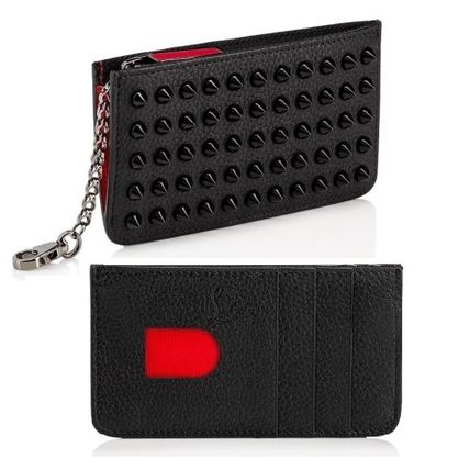 【Christian Louboutin】Credilou Spikes Card Case ブラック