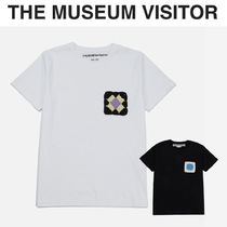 THE MUSEUM VISITOR(ザミュージアムビジター) Tシャツ・カットソー [THE MUSEUM VISITOR] Hand Knitted T-Shirts★ニットの花