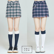 ROMANTIC CROWN★日本未入荷 チェック FRONT POCKET CHECK SKIRT