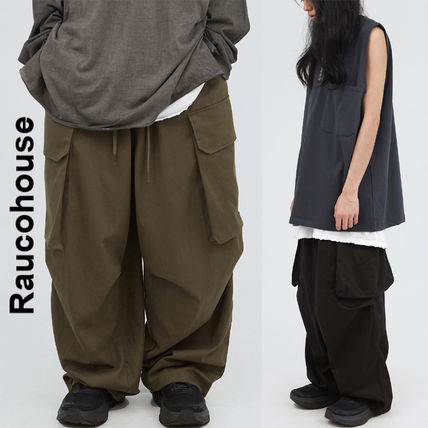 Raucohouse(ラウコハウス)★Cotton Wide Banding Cargo Pants