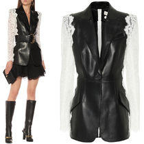 AM812 LEATHER AND LACE JACKET