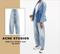 送料関税無料 [Acne Studios] High-rise washed wide-leg jeans