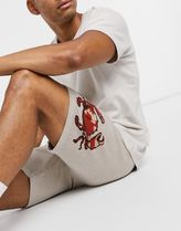 ASOS DESIGN knitted co-ord shorts with crab design