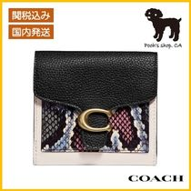 【COACH】Tabby Small Wallet With SnakeskinDetail◆国内発送◆