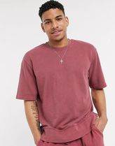 Topman co-ord jumper in washed burgundy