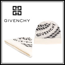 20-21AW☆GIVENCHY☆ロゴ ビーニー ホワイト
