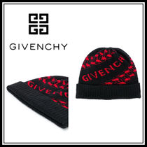 20-21AW☆GIVENCHY☆ロゴ ビーニー Black/Red