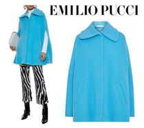 関税・送料込 Emilio Pucci☆Wool and cashmere-blend felt cape