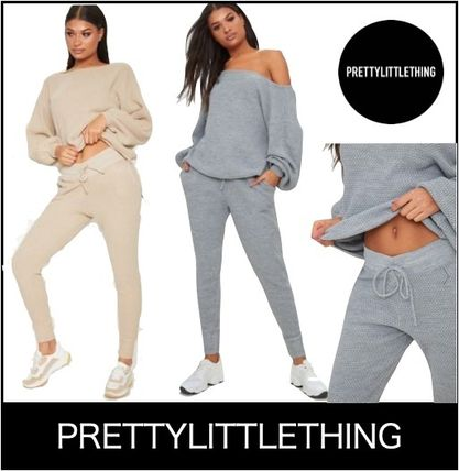 【PrettyLittleThing】ワッフルニットセットアップ*関送込み*