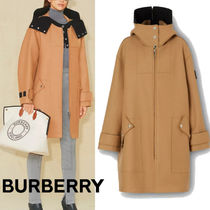 Burberry☆Logo Applique Technicalウールフードパーカー☆送込