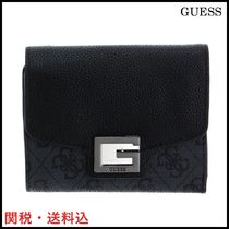 NEW!★GUESS★ゲス  コンパクト 三つ折り  ブラック