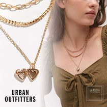 【Urban Outfitters】重ねつけ風☆ロケット・ハート☆2色