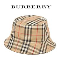 ∞∞ Burberry ∞∞ Checked cotton-blend bucket ハット☆