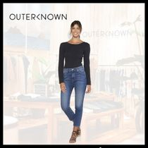 Outer known(アウターノウン) Tシャツ・カットソー 【関税/送料込】OUTER KNOWN 3色 JONI L / S POINTELLE Tシャツ
