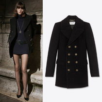 WSL1747 LOOK5 DOUBLE-BREASTED PEACOAT IN WOOL AND ANGORA