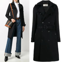 WSL1749 WOOL CASHMERE TRENCH COAT