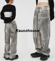 RAUCOHOUSE Dirty Stone Washed Denim Pants