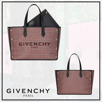 ★GIVENCHY☆千鳥格子柄☆ミディアム☆ボンドショッパー★バッグ