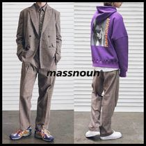 ◆MASSNOUN◆ DL CHECK WIDE SLACKS BTS着用 ワイドスラックス