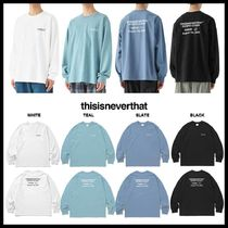 ◆thisisneverthat◆ CP-Logo L/SL Top 長袖Tシャッツ 人気