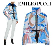 Emilio Pucci☆Grosgrain-trimmed printed shell padded jacket
