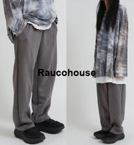 RAUCOHOUSE chunky mat suede banding pants
