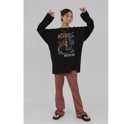 Raucohouse Tシャツ・カットソー Raucohouse ACDC Rock over fit long T-shirt(7)