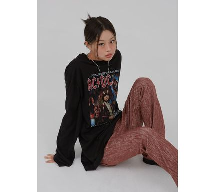 Raucohouse Tシャツ・カットソー Raucohouse ACDC Rock over fit long T-shirt(8)