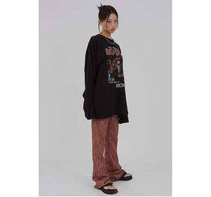 Raucohouse Tシャツ・カットソー Raucohouse ACDC Rock over fit long T-shirt(9)