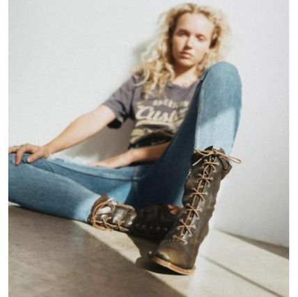 Free People ミドルブーツ 日本発送☆Free People☆Canyon Lace Up Boots レースアップ(11)