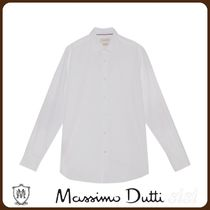 MassimoDutti♪SLIM FIT COTTON SHIRT WITH ELBOW PATCHES