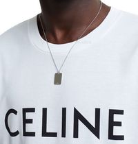 ★CELINE★AIGUISE LARGE TAG*ネックレス*Silver