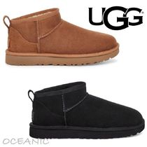 【UGG】CLASSIC ULTRA MINI BOOT ロゴ入り ブーツ