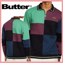 ☆送料関税込☆Butter Goods 1/4 zipper Patchwork Pullover