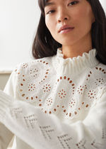 & Other Stories☆Wool Blend Scalloped Sweater