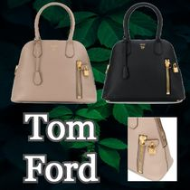 【TOM FORD】 ロゴ プリント レザー バッグ