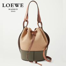 ∞∞ LOEWE ∞∞ Balloon medium canvas and leather バッグ☆