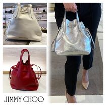 Jimmy Choo☆BARRA BUCKET 巾着2Wayショルダー☆送込