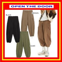[OPEN THE DOOR] side pocket cotton jogger pants/全3色/追跡付