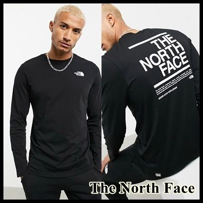 ☆THE NORTH FACE☆長袖 バックロゴ Tシャツ 関送込 国内発送