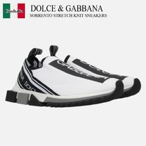 DOLCE & GABBANA SORRENTO STRETCH KNIT SNEAKERS