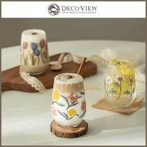 ◆DECOVIEW◆ MELOW FLOWER CUP 370ml 3種 カフェグラス 韓国発