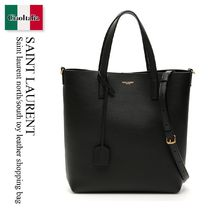 Saint laurent north south toy leather shopping bag