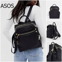 ★ASOS★ DESIGN backpack with chunky zip and croc
